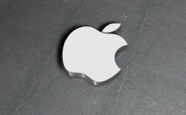 Metallic version of the Apple logo