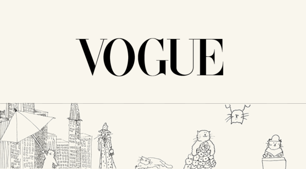 Image of a Vogue website banner