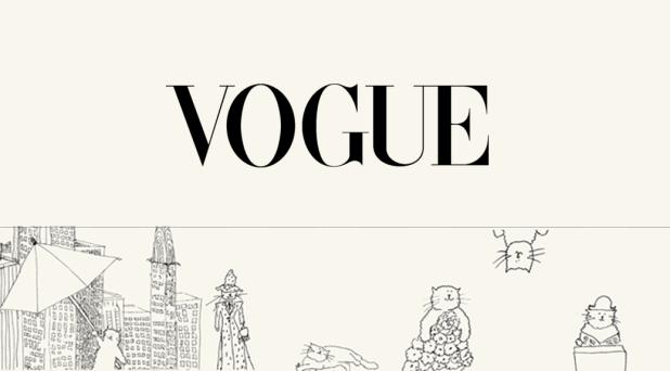 Image of a Vogue website banner