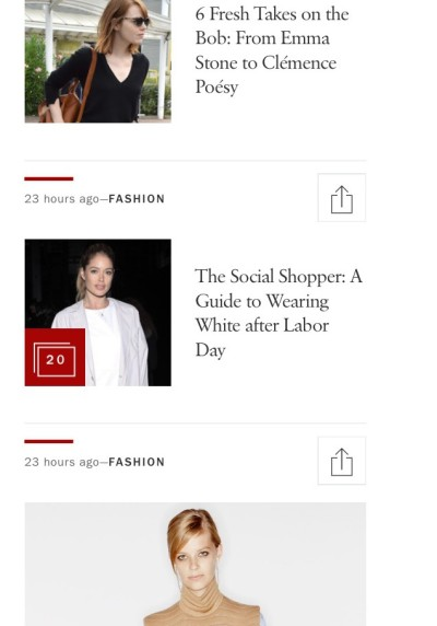 Screenshot of a page on the Vogue.com website