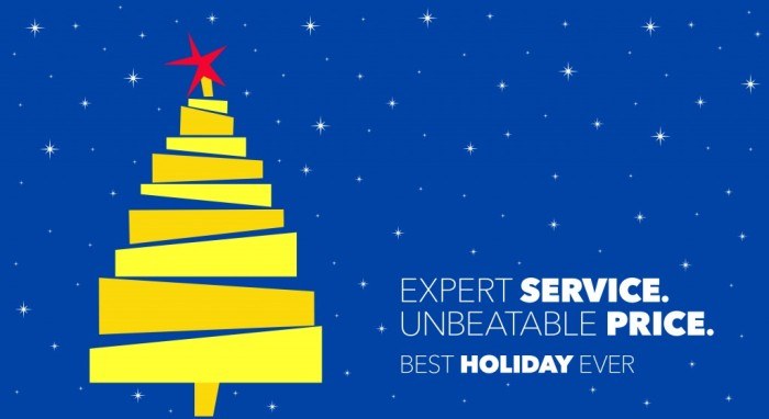 Image of a generic Best Buy holiday banner
