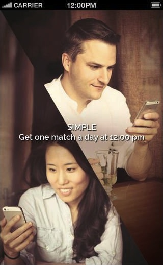 Image of a Caucasian man and an Asian woman smiling while looking at their phone